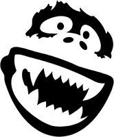Yeti Smiling Face Vinyl Car Window Laptop Decal Sticker