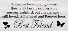 Friendship Sign Best Friend Gift Novelty Shabby Chic Plaque- Best Friend Forever