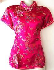 Asia Miss China-Geisha-Qipao Kimono Bluse/Blazer/Top Bluse Drachen-Motiv 32-42