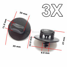 3X Floor Mat Clips,Twist Lock Fasteners, for Volkswagen, VW, AUDI, SKODA, SEAT