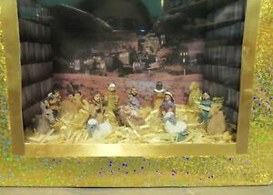 Dollhouse Miniature Nativity Scenario (Roombox) in a Gift Bag