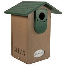 Jcs Wildlife Brown Recycled Ultimate Bluebird House W/Green Roof & Free Shipping
