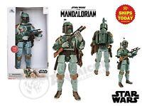 "Disney Store BOBA FETT Talking Action Fig 13.5"" Mandalorian Star Wars NEW 2021"