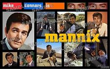MANNIX TV series Fan Made Poster Print 11 X 17 Mike Connors