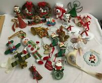 Vintage Christmas Tree Ornaments  Lot Holiday Decorations 30 pieces