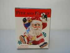 "Fitz and Floyd Christmas Sugar Plum Santa Ornament 4"" tall New in Box"