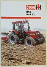 prospectus brochure tracteur CASE IH 845 - 845 XL tractor traktor prospekt