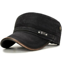 Mens Outdoor Cotton Sunshade Military Army Cap Adjustable Durable Flat Top  N