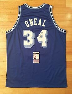 Shaquille O'Neal Lakers Signed Autograph Authentic Basketball Jersey JSA PROOF