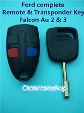 Ford Falcon Au 2 & 3 complete Remote & Transponder Key suits AU2 AU3 Falcon