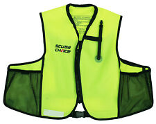 Scuba Choice Snorkeling Oral Inflatable Snorkel Jacket Vest Pockets Neon Yellow