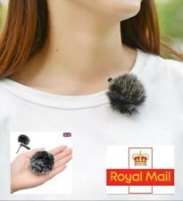 UK Fur Windscreen Wind Muff Mic Furry Cover for Lavalier Lapel Microphone