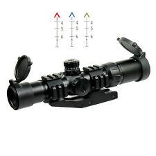 1.5-4X30 Tactical Rifle Scope w/ Tri-Illuminated Chevron Reticle & PEPR Mount