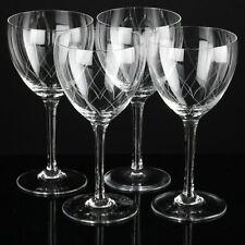 6 zarte Weingläser ~ Art Deco - 50er Gläser Bögen Gravur Vintage