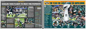 EAGLES WIN SUPER BOWL LIII -- TWO COMMEMORATIVE POSTERS FOR ONE LOW PRICE