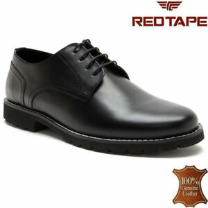 Mens Leather Smart Formal Office Casual Lace Up Oxford Brogue Derby Shoes Size
