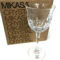 Mikasa Full Lead Crystal Westminster Wine Glass Set of 4 Made in Austria w/ Box