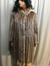 Stunning CANADIAN FUR CO Long Plush Natural MINK Full Length Jacket Sz 12 To 14!