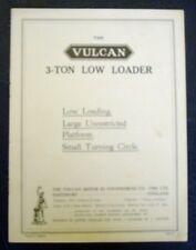 VULCAN 3 TON LOW LOADER SALES BROCHURE 1927.