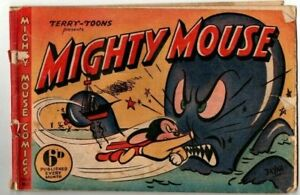 MIGHTY MOUSE   No 21  1951    .GOLDEN   AGE AUSTRALIAN  COMIC VG/ FINE