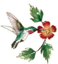 Hummingbird & Trumpet Flower Metal Wall Art Sculpture- Bovano of Cheshire #W445