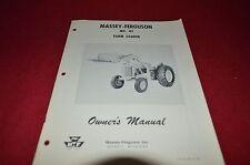 Massey Ferguson 85 Front End Loader Operator's Manual YABE8
