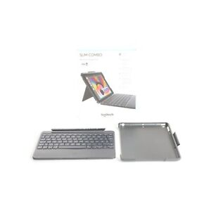 Logitech Slim Combo Tablet Keyboard Book-Cover Case Apple IPAD + Top (236262)