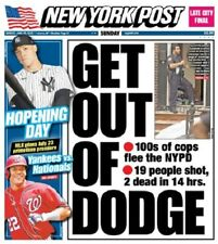NEW YORK POST NEWSPAPER GET OUT OF DODGE  ACE THE NATION   6/28/20