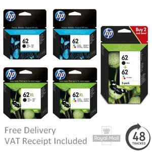 Original HP 62 / 62XL Black / Colour Ink Cartridges for ENVY 5546 Printers