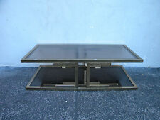 Mid Century Vintage Metal Glass Top Coffee Table 5978X