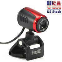 USB 2.0 HD 16MP Webcam Camera With Microphone Mic LED For PC Laptop Desktop Cam