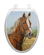 Toilet Tattoos® Bathroom Decor Proud Moment  Horse Toilet Seat Brown Vinyl 1071