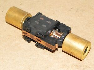 Athearn HO Parts Diesel Locomotive Motor w/ Long Brass Flywheels RUNS WELL #1
