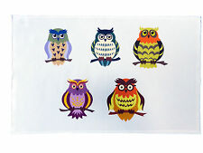 Cartoon Owls Cotton Tea Towel
