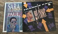 Frankie Paul Vinyl LPs (Sara & Get Closer) VG+ Free Shipping