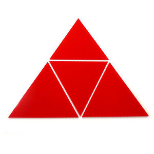 Red Triangle Mosaic Wall Tiles (Several Sizes Available)