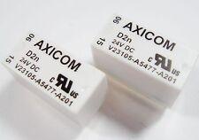 2 x Relais 24V 2xUM 250V 3A AXICOM Siemens V23105-A5477-A201 #9R53#