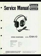 Technics/Panasonic EAH-10 Stereo Headphones Original Factory Service Manual