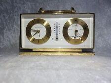 Vintage Swiza Sheffield 8 Day Alarm & Barometer Clock - Works!