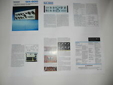 Pioneer QA-800 QUAD Amplifier Brochure 6 pages, Specs, Info, Article