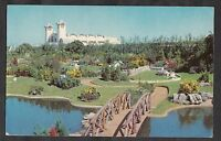 Postcard - View of Merrivale model village, Great Yarmouth. Stamp/postmark 1963