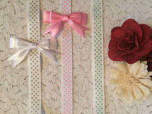 POLKA DOT RIBBON DUMMY CLIPS - SOOTHER