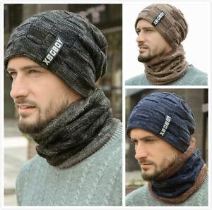 Wintermütze Strickmütze Warme Beanie Winter Mütze und Schal Damen und Herren