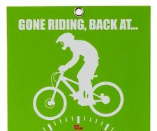 New Novelty Gone Riding Clock Face green Downhiller Free P&P