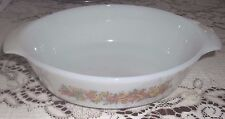 ANCHOR HOCKING OVAL CASSEROLE~Vegetable Pattern Anchor Hocking~Oven Proof Bowl~