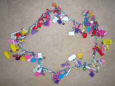 VINTAGE CHILDREN PLASTIC CHARM NECKLACE  ~~OVER 60 CHARMS ON NECKLACE~~