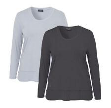 Damenblusen, - tops & -shirts im Lagenlook-Stil ohne Muster