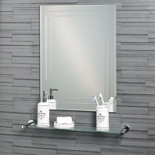 "Frameless Rectangular Diamond Cut ""Chelsea"" Bathroom Mirror 60x45cm"