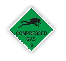 Compressed Air Scuba Diving Cylinder On Board Decal Sticker Diver