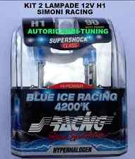 KIT 2 LAMPADE EFFETTO XENON LUCE BIANCA 12V H1 55W 4200K BLUE ICE SIMONI RACING